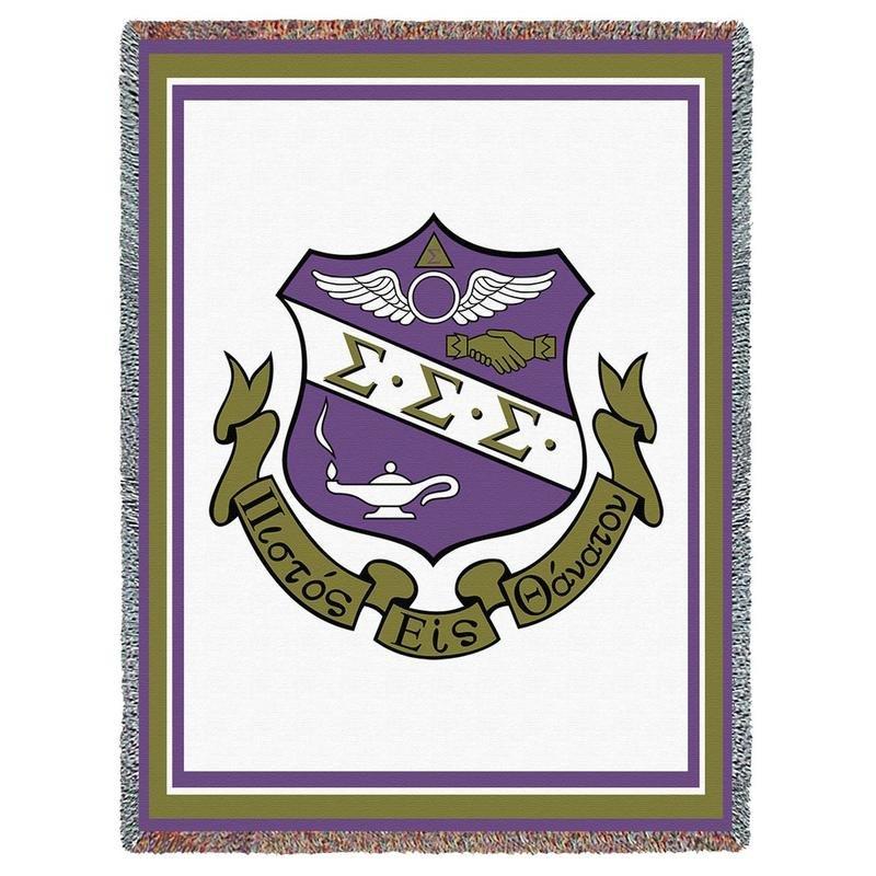 Sigma Sigma Sigma Afghan Blanket Throw