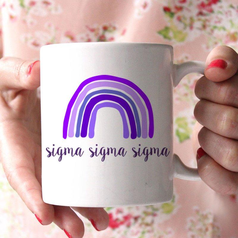 Sigma Sigma Sigma Rainbow Coffee Mug