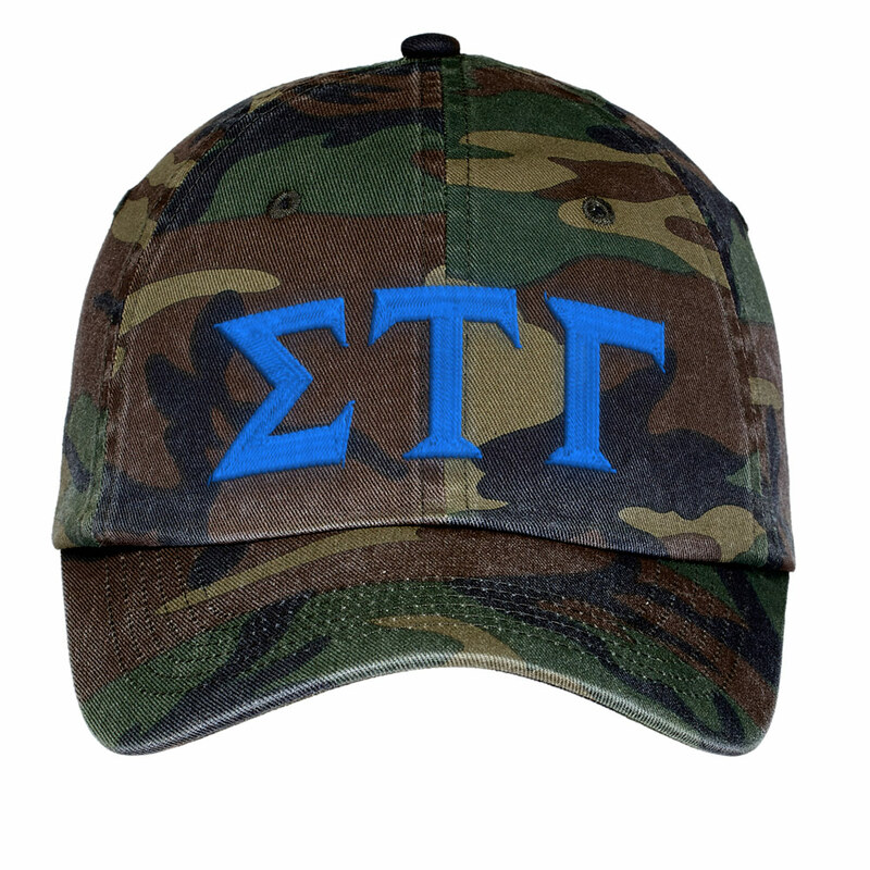 Sigma Tau Gamma Lettered Camouflage Hat