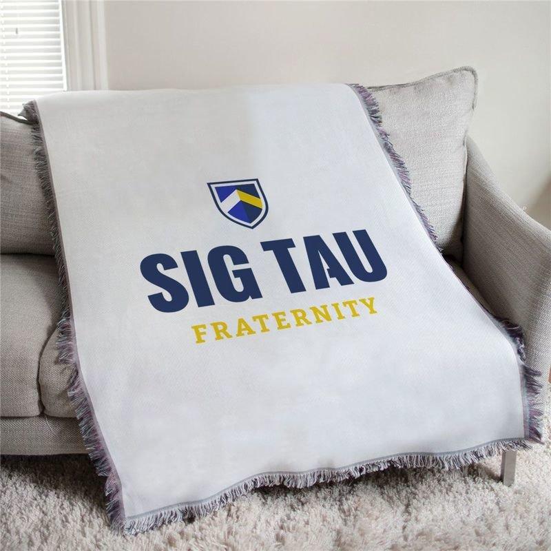 Sigma Tau Gamma Shield Afghan Blanket Throw