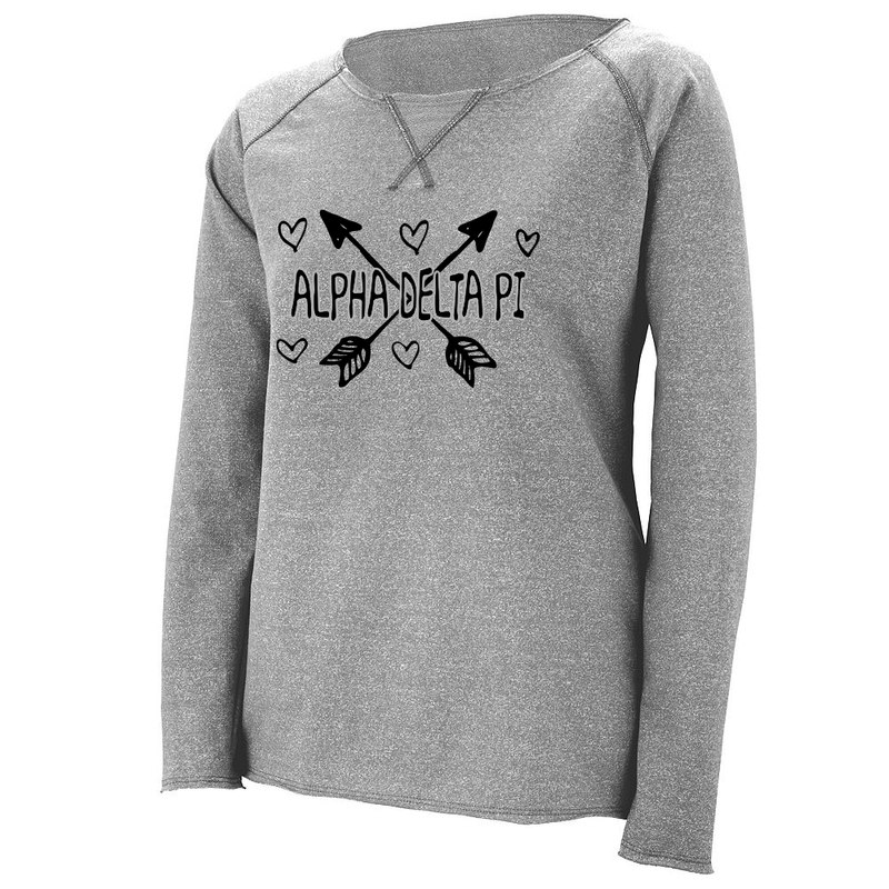 Sorority Dual Arrows French Terry Crewneck