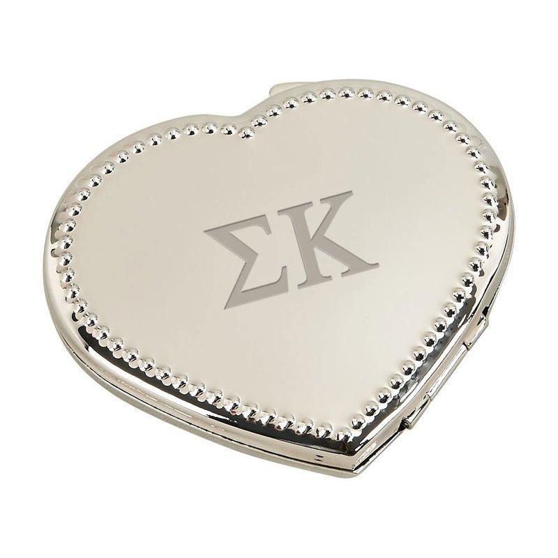 Sorority Heart Shaped Classic Compact