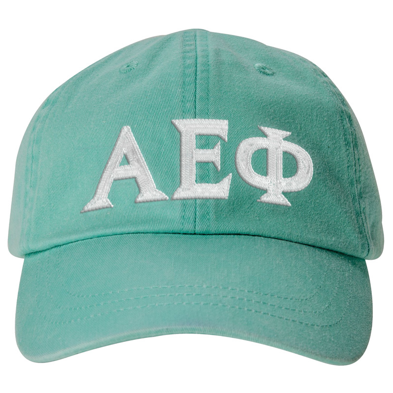 Sorority Embroidered Letter Pastel Hat