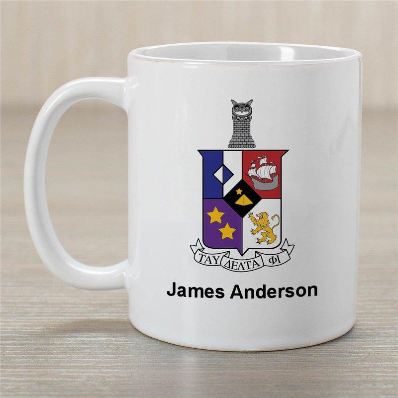 Tau Delta Phi Greek Crest Coffee Mug - Personalized!