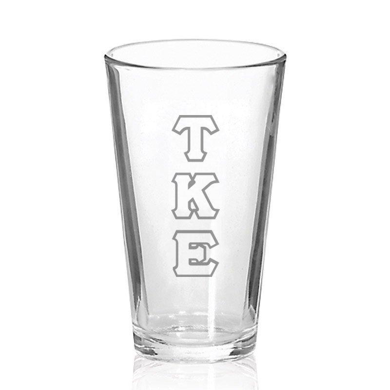 Tau Kappa Epsilon Big Letter Mixing Glass
