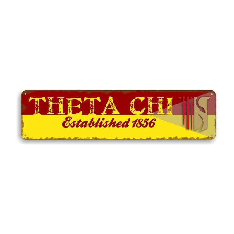 Theta Chi Vintage Metal Greek Sign