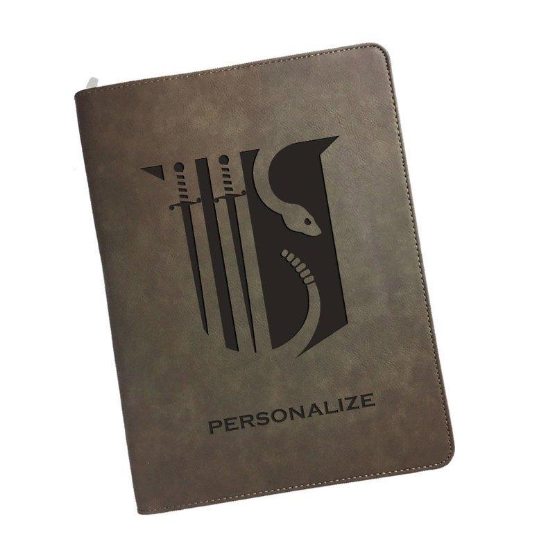 Theta Chi Zipper Leatherette Portfolio with Notepad