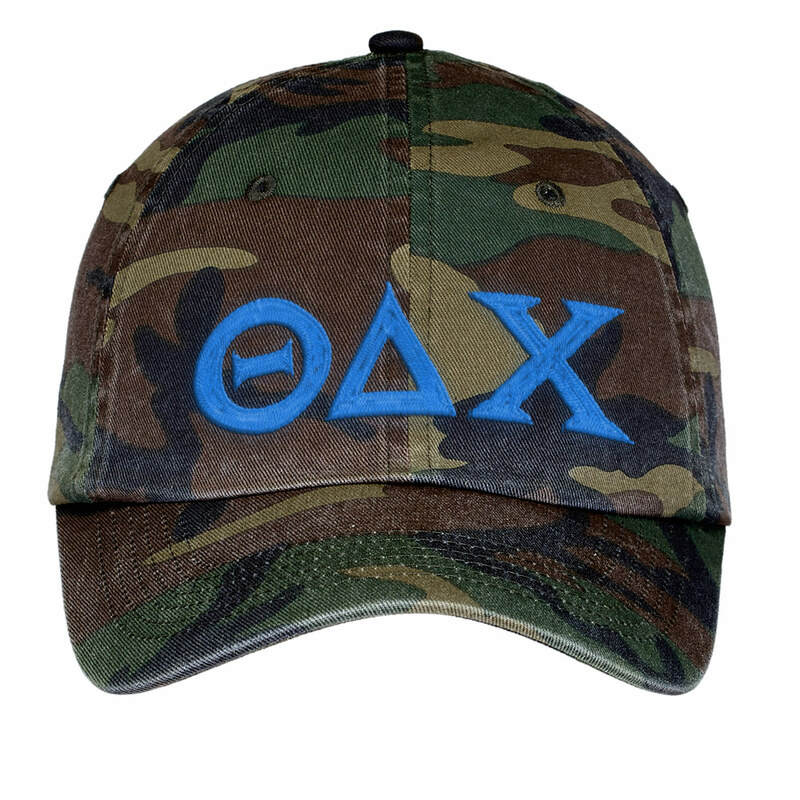 Theta Delta Chi Lettered Camouflage Hat