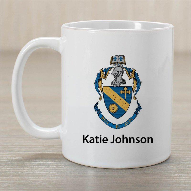 Theta Phi Alpha Crest Coffee Mug - Personalized!