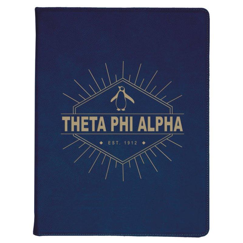 Theta Phi Alpha Leatherette Mascot Portfolio with Notepad