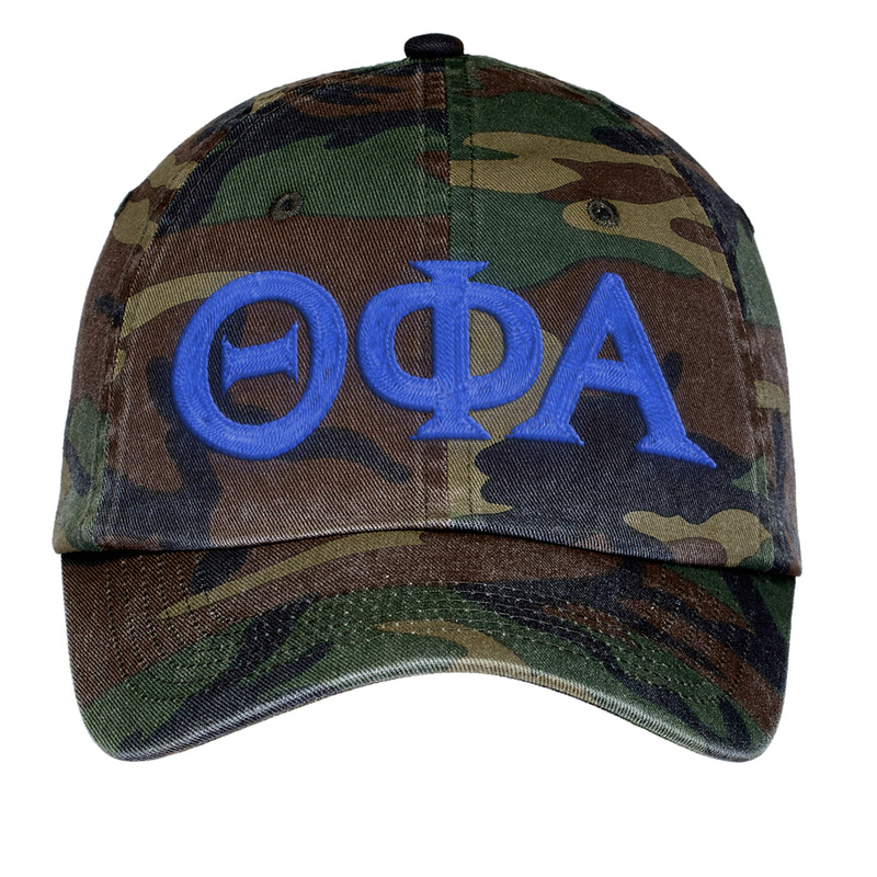 Theta Phi Alpha Lettered Camouflage Hat
