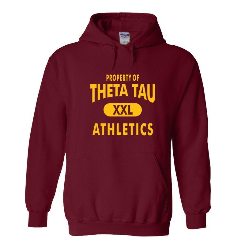 Theta Tau Property Of Athletics Hoodie