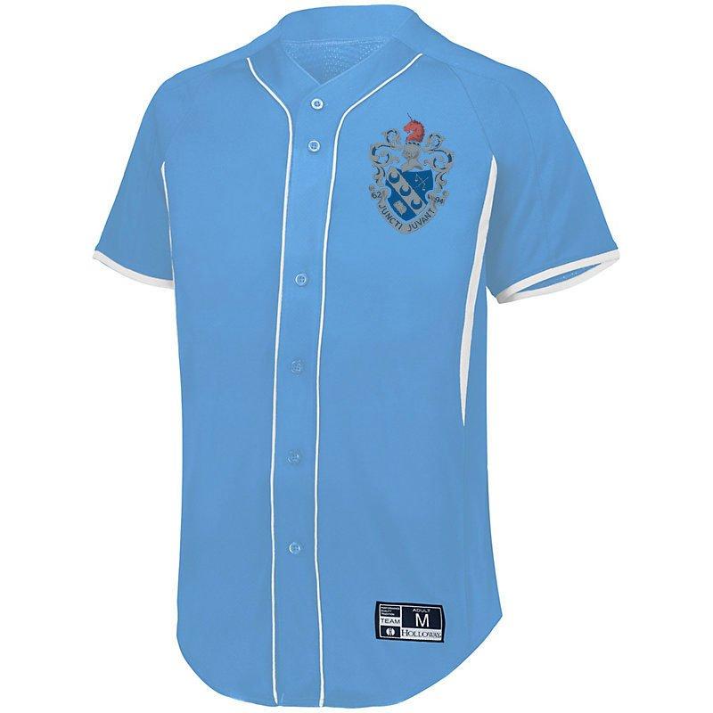 Theta Xi Game 7 Full-Button Baseball Jersey