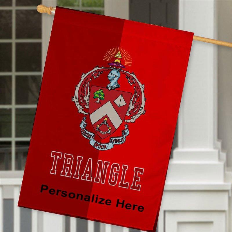 Triangle Crest House Flag