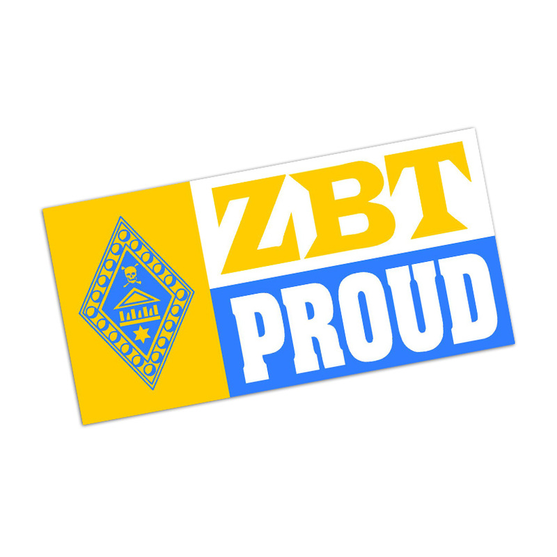Zeta Beta Tau Proud Bumper Sticker - CLOSEOUT