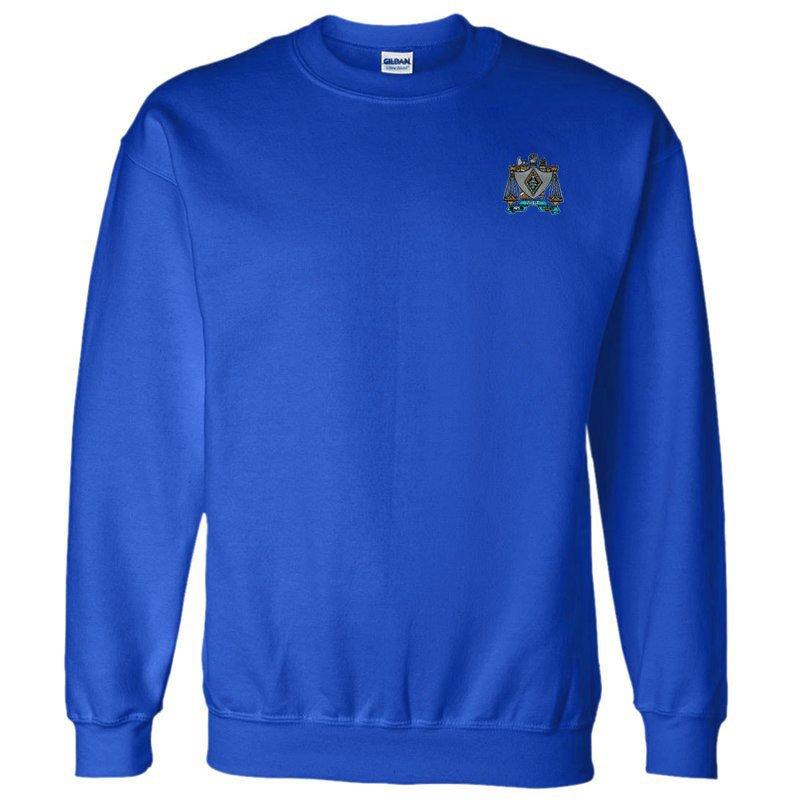 DISCOUNT-Zeta Beta Tau World Famous Crest - Shield Crewneck Sweatshirt