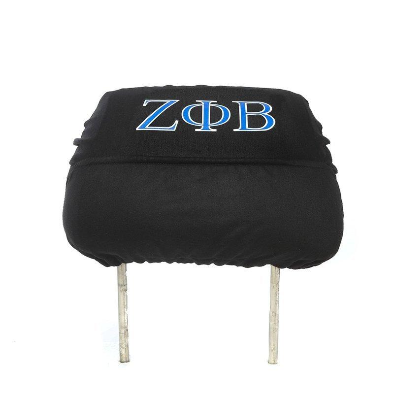 Zeta Phi Beta Black Car Seat Headrest Cover