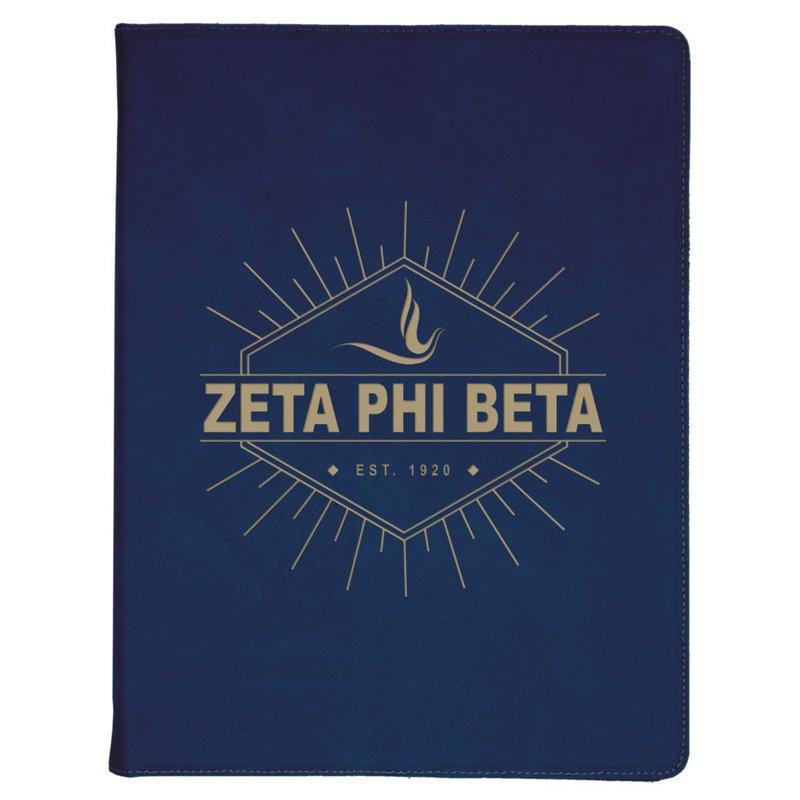 Zeta Phi Beta Leatherette Mascot Portfolio with Notepad