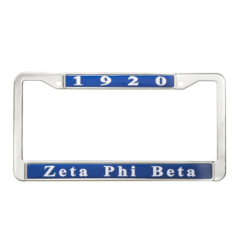Zeta Phi Beta Metal License Plate Frame