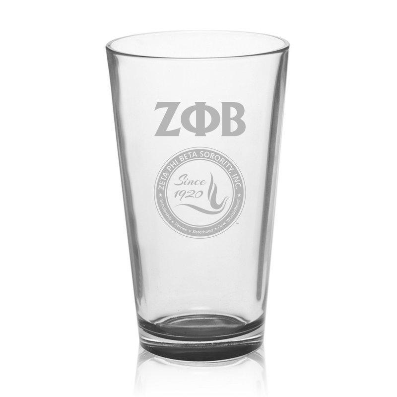 Zeta Phi Beta Mixing Glass