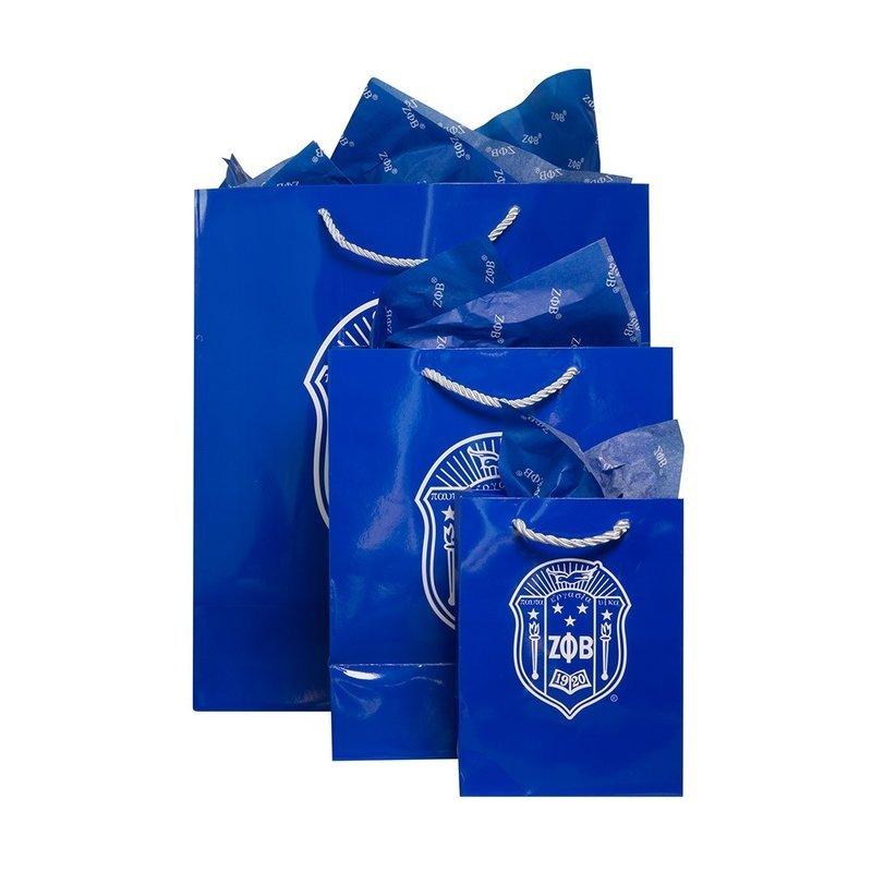 Zeta Phi Beta Paper Gift Bag Set