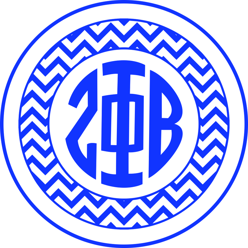 Zeta Phi Beta Sorority Monogram Bumper Sticker