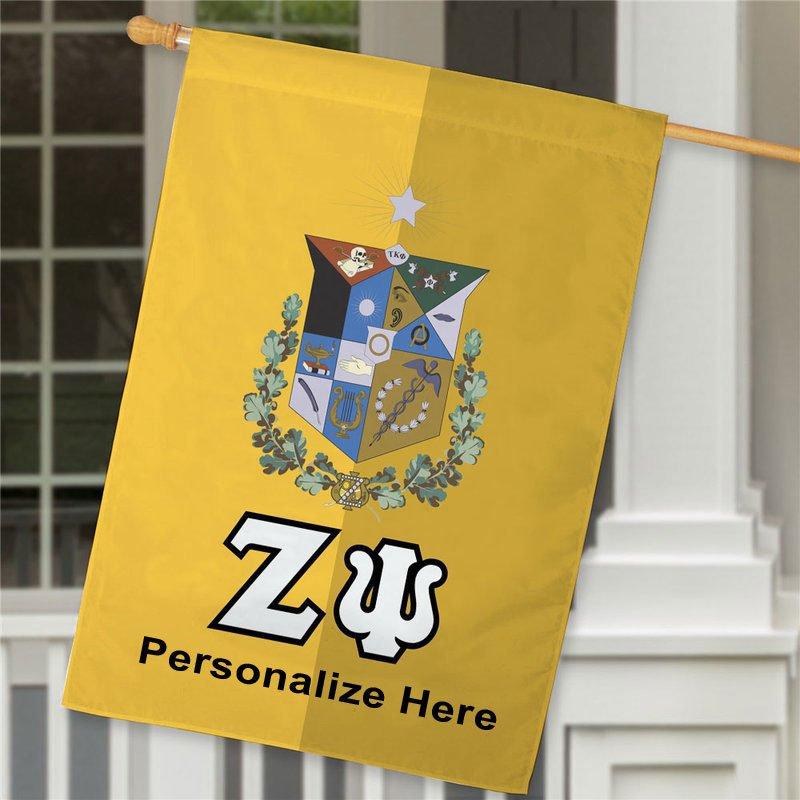 Zeta Psi Crest House Flag