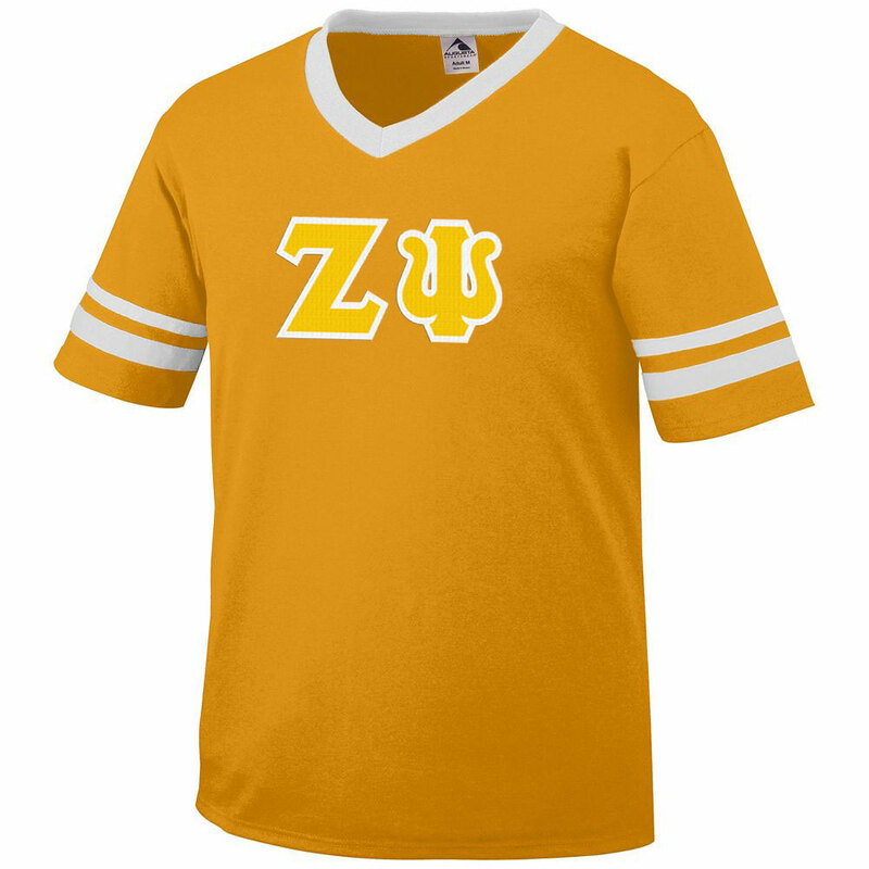 DISCOUNT-Zeta Psi Jersey With Greek Applique Letters