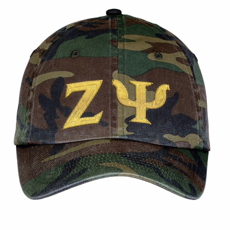 Zeta Psi Lettered Camouflage Hat