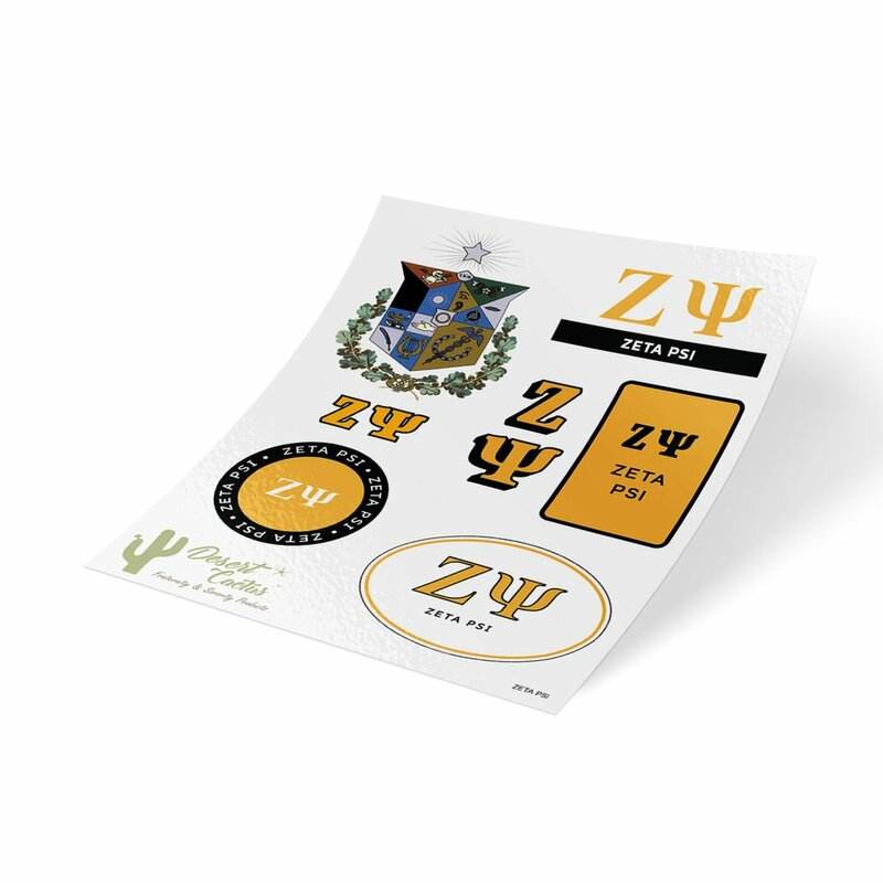 Zeta Psi Traditional Sticker Sheet