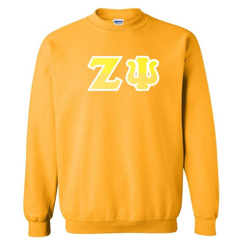 Zeta Psi Two Tone Greek Lettered Crewneck Sweatshirt
