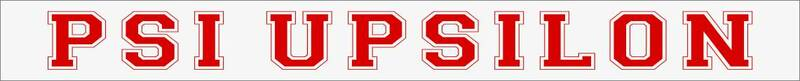 Psi Upsilon Long Window Sticker