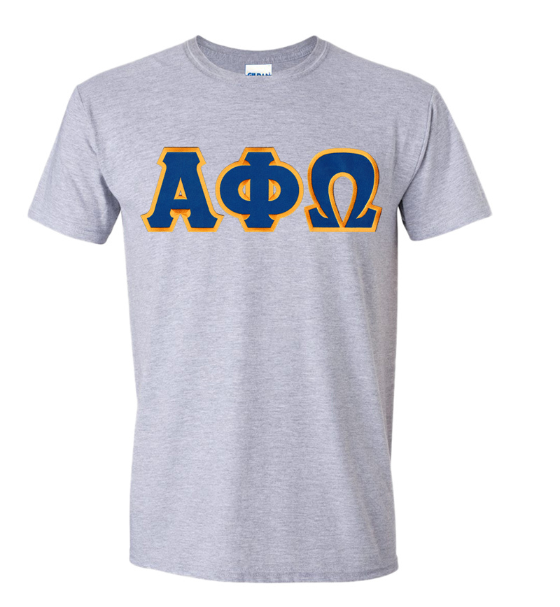 DISCOUNT Alpha Phi Omega Lettered Tee