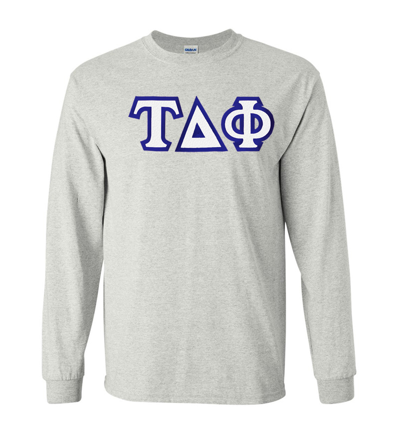 $19.99 Tau Delta Phi Custom Twill Long Sleeve T-Shirt