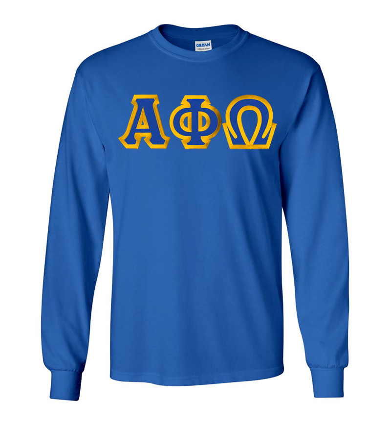 $19.99 Alpha Phi Omega Custom Twill Long Sleeve T-Shirt