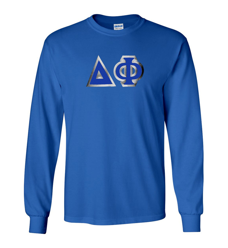 Delta Phi Custom Twill Long Sleeve T-Shirt