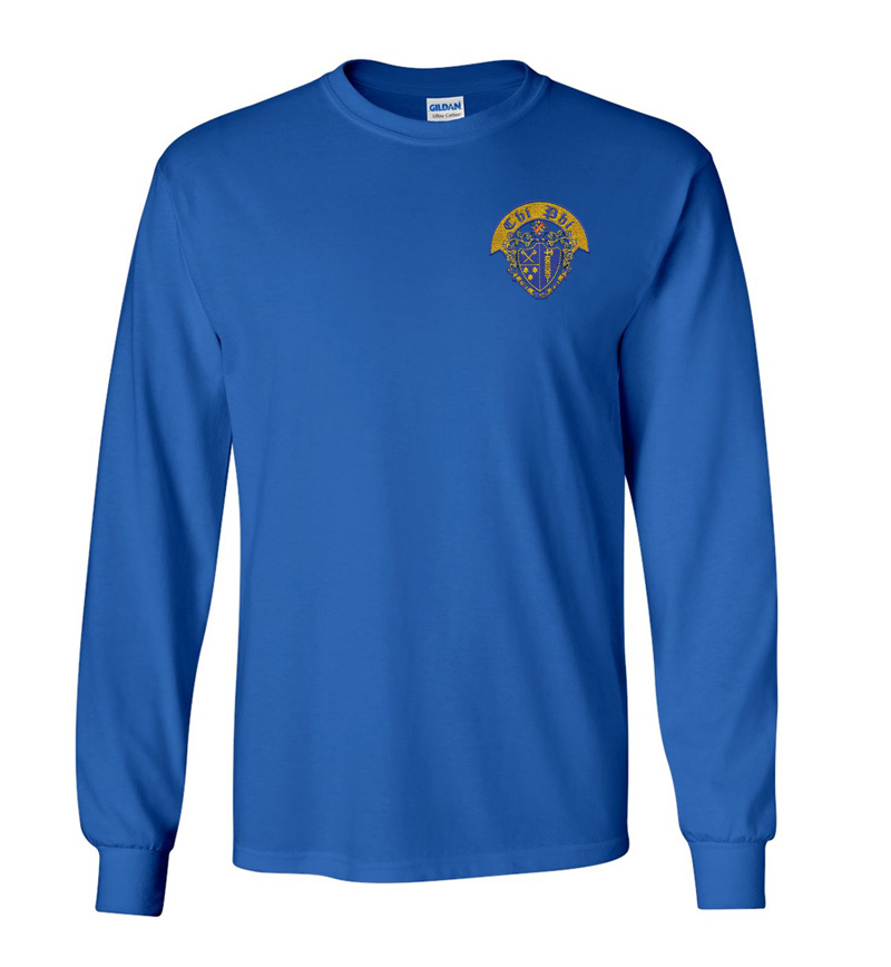 DISCOUNT-Chi Phi Crest - Shield Long Tee