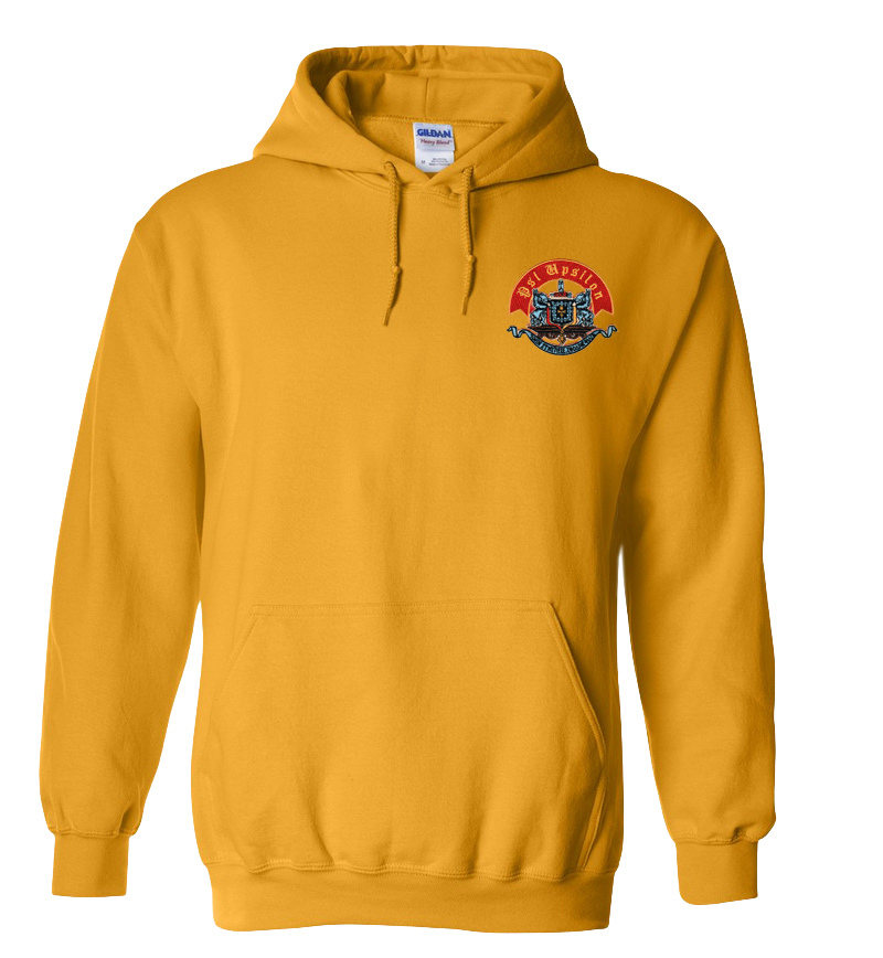 DISCOUNT-Psi Upsilon Crest - Shield Emblem Hooded Sweatshirt
