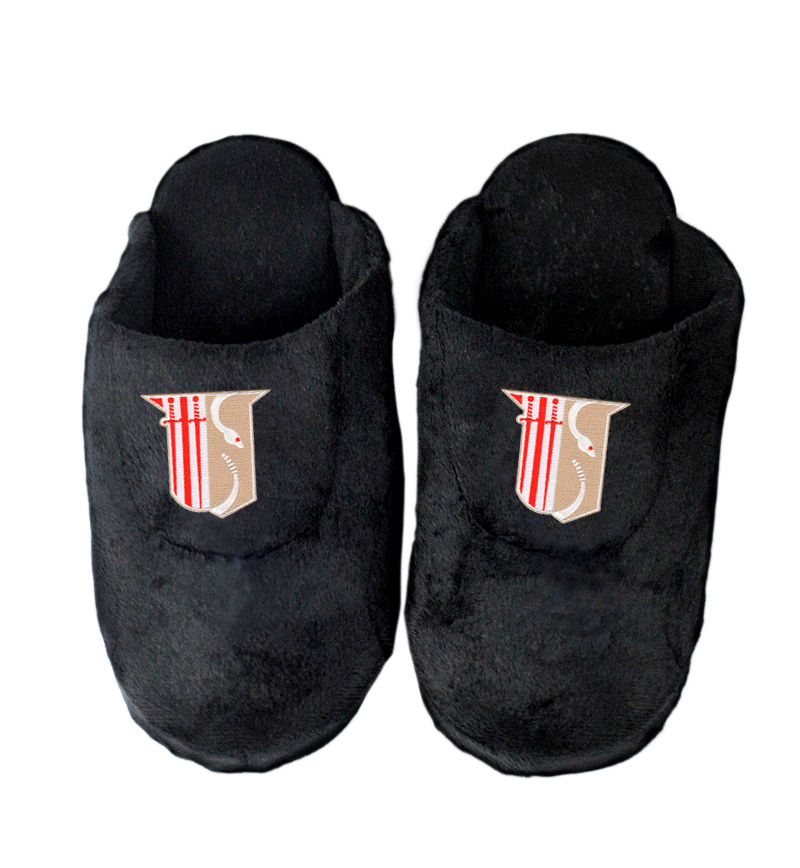 DISCOUNT-Theta Chi Black Solid Slipper