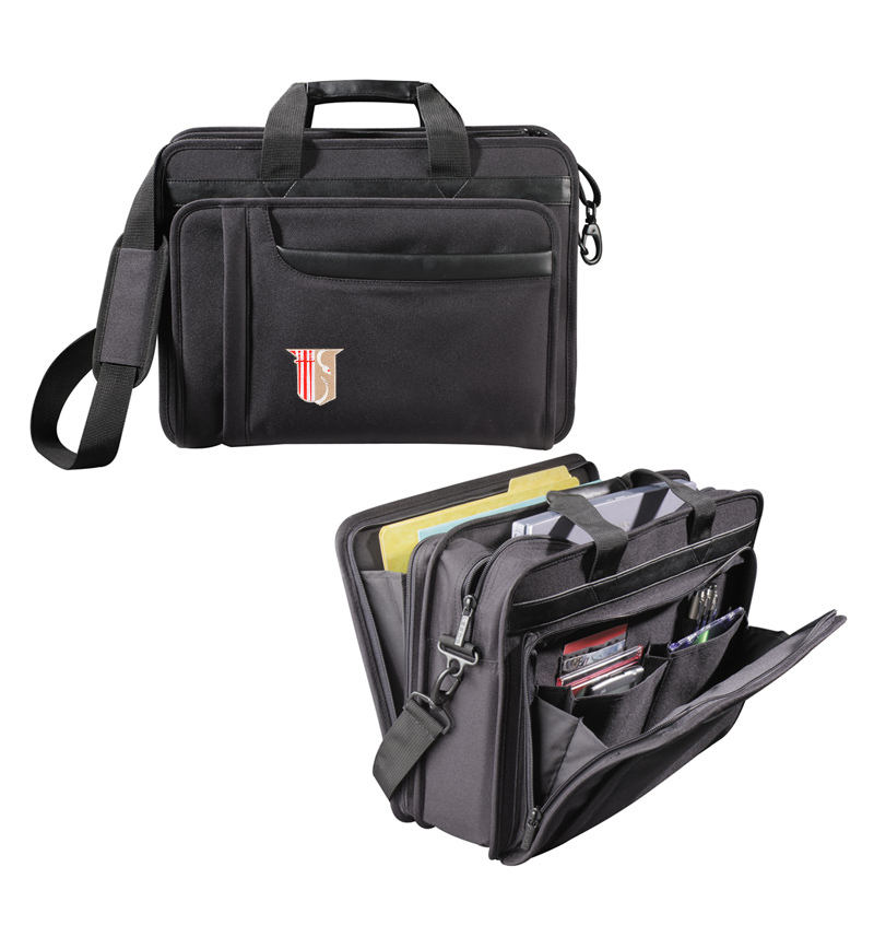 Theta Chi Crest Briefcase Attache