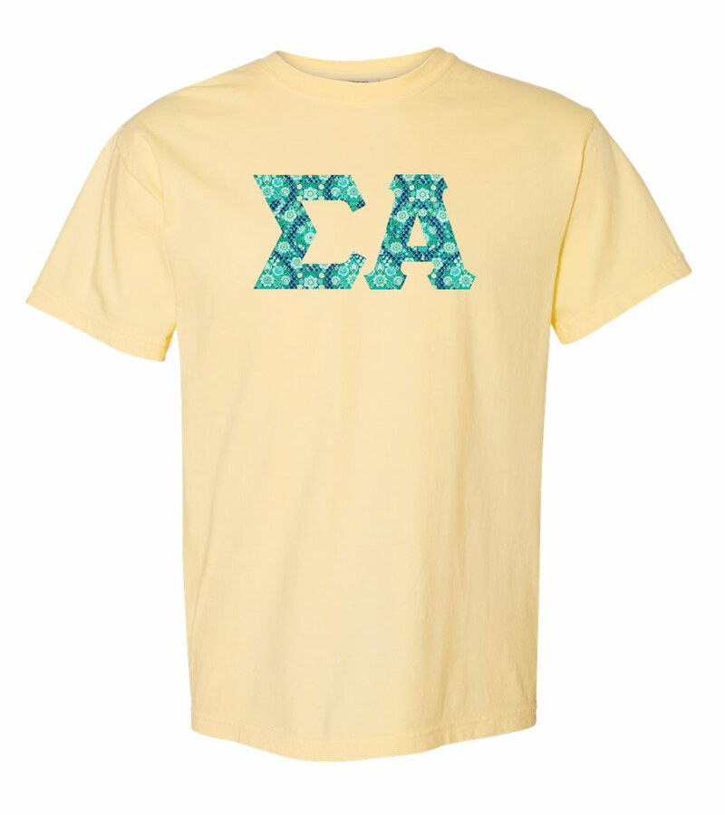Sigma Alpha Comfort Colors Lettered Greek Short Sleeve T-Shirt