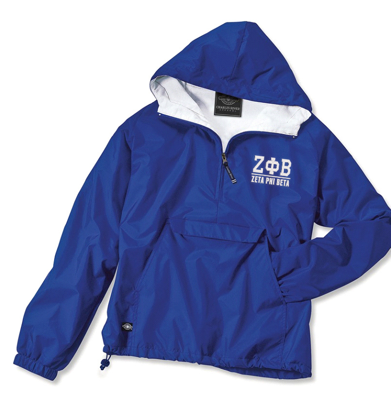 Zeta Phi Beta Greek Letter Anoraks
