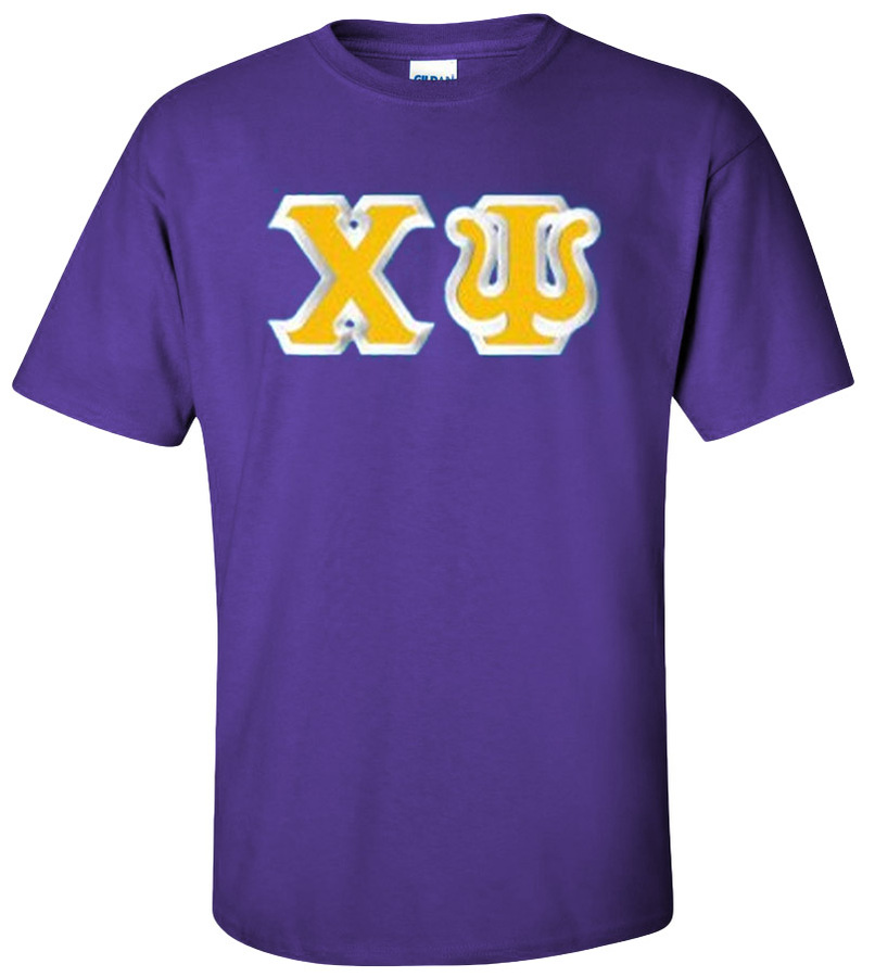 Chi Psi Custom Twill Short Sleeve T-Shirt