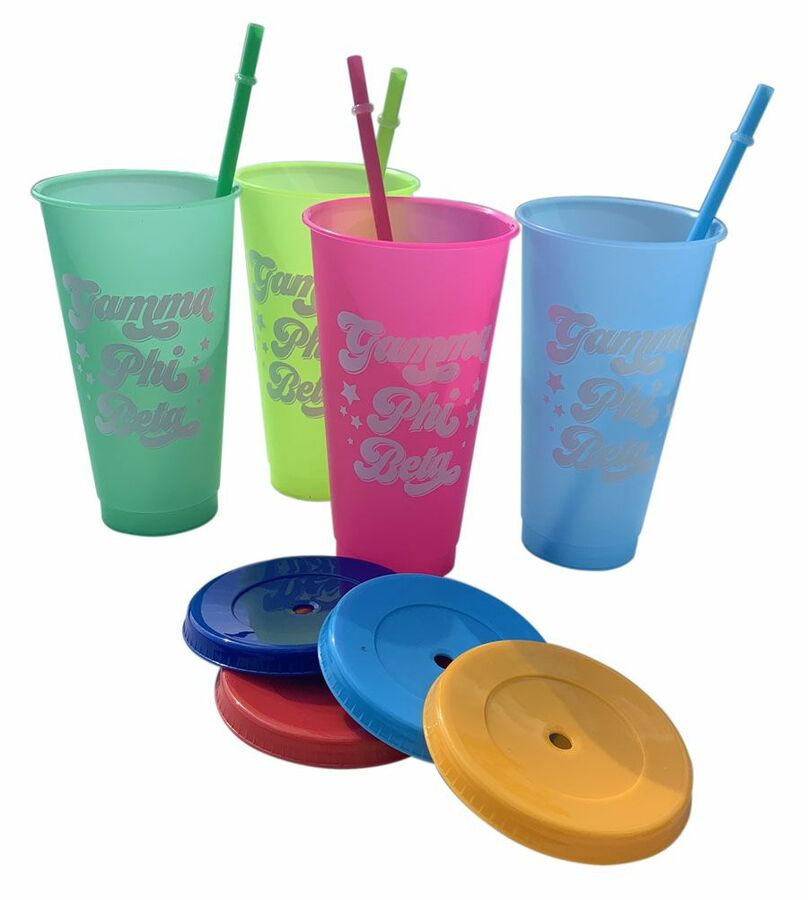 Sorority Color Changing Cups (Set of 4)