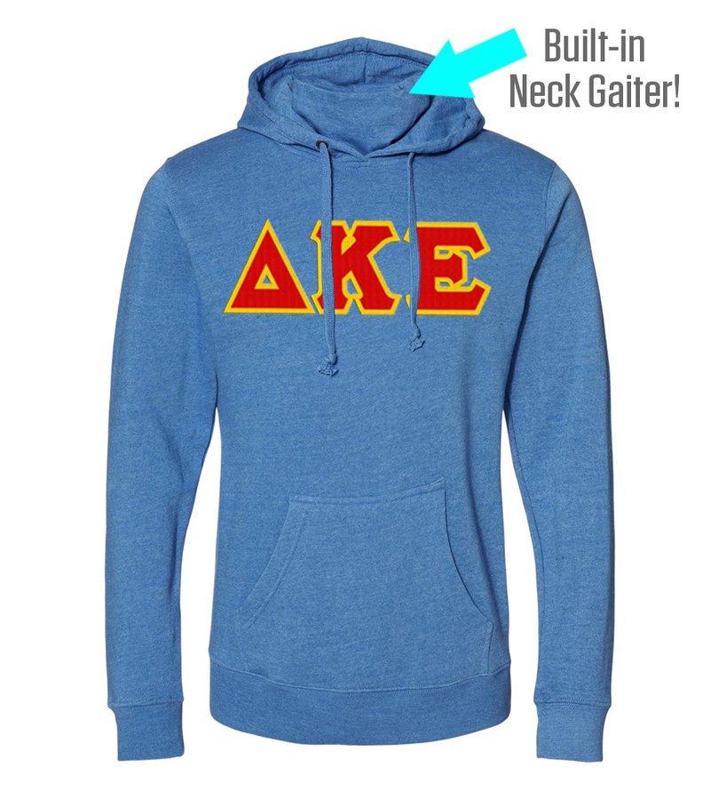 Delta Kappa Epsilon Lettered Gaiter Fleece Hooded Sweatshirt