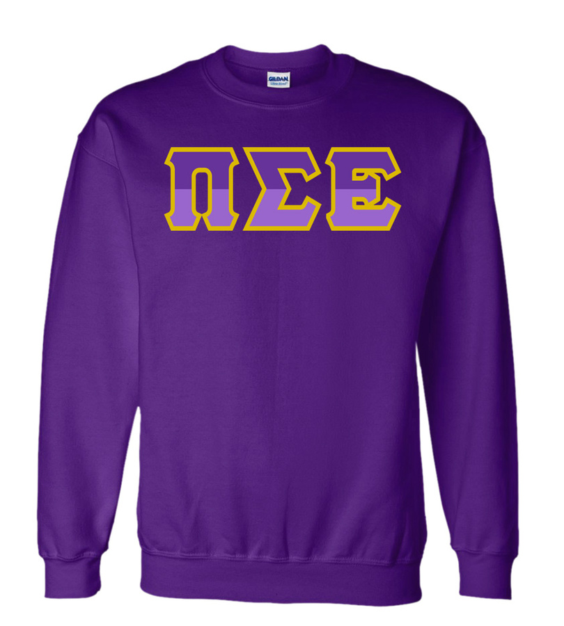 Pi Sigma Epsilon Two Tone Greek Lettered Crewneck Sweatshirt