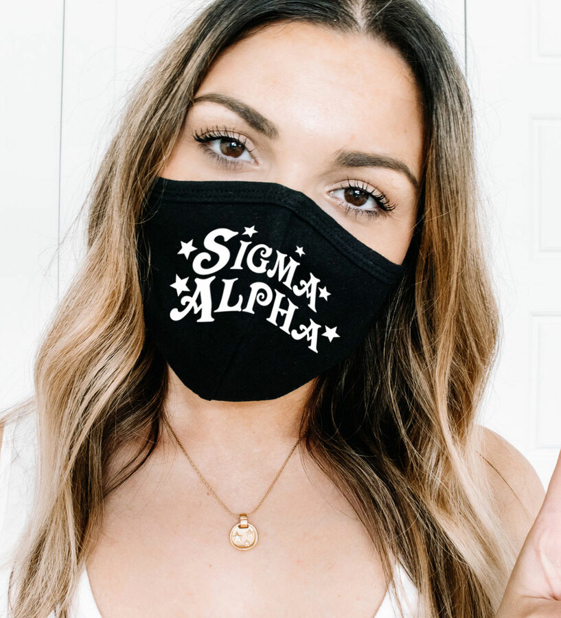 Sigma Alpha Star Struck Face Mask
