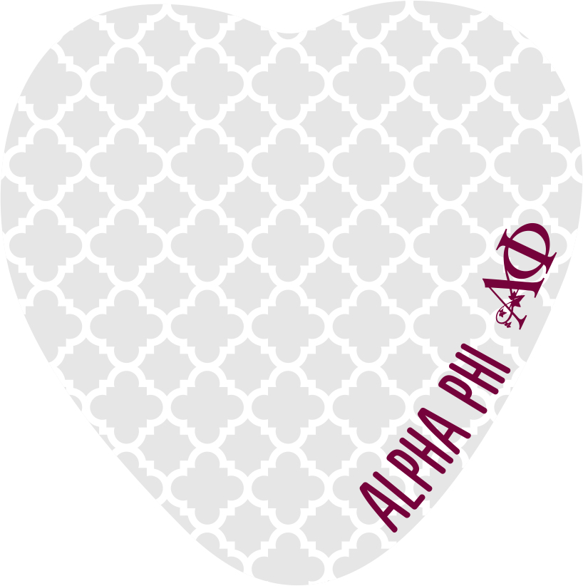 Sorority Heart Shaped Sticky Notes