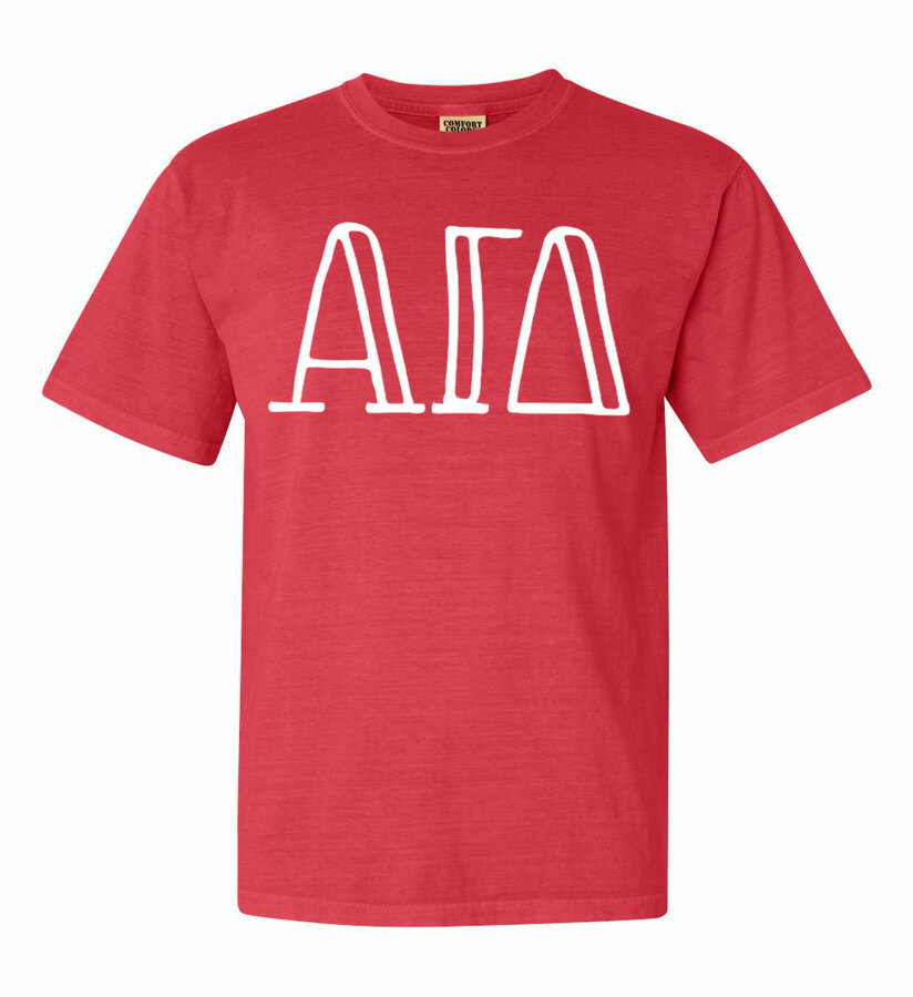 Alpha Gamma Delta Comfort Colors Heavyweight Design T-Shirt