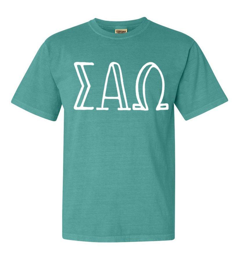 Sigma Alpha Omega Comfort Colors Heavyweight Design T-Shirt